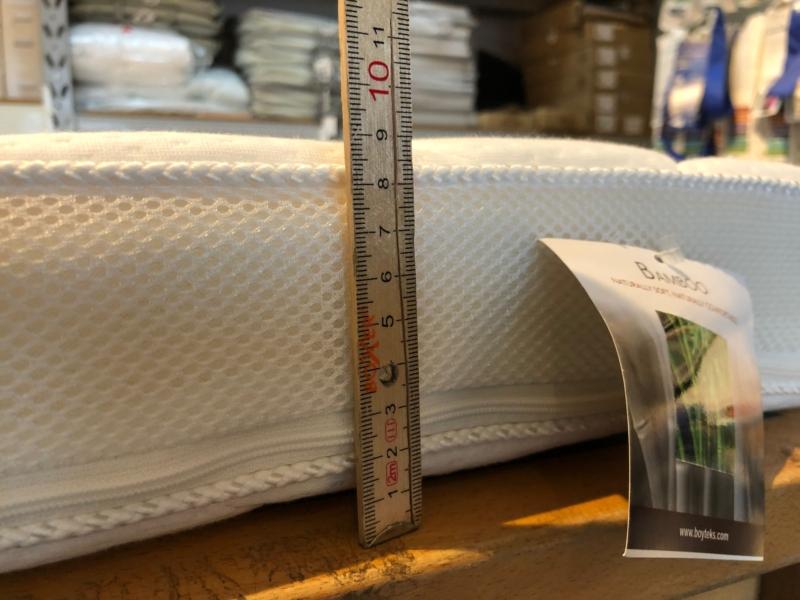 Latex topmadrasser, mange mål, 9 cm. høje, Bamboo luksus - laves også i specialmål.
