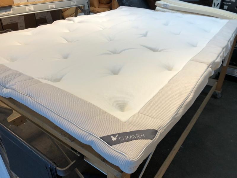 Latex topmadras 140 x 200 cm. 8 cm. tyk. Sommer/Vinter side.