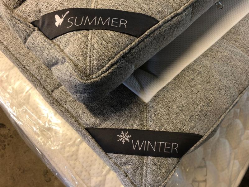 SUPER topmadras i Latex 180 x 200 cm. Sommer/Vinterside